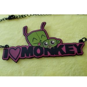 Invader Zim Scary Monkey Nickelodeon Necklace